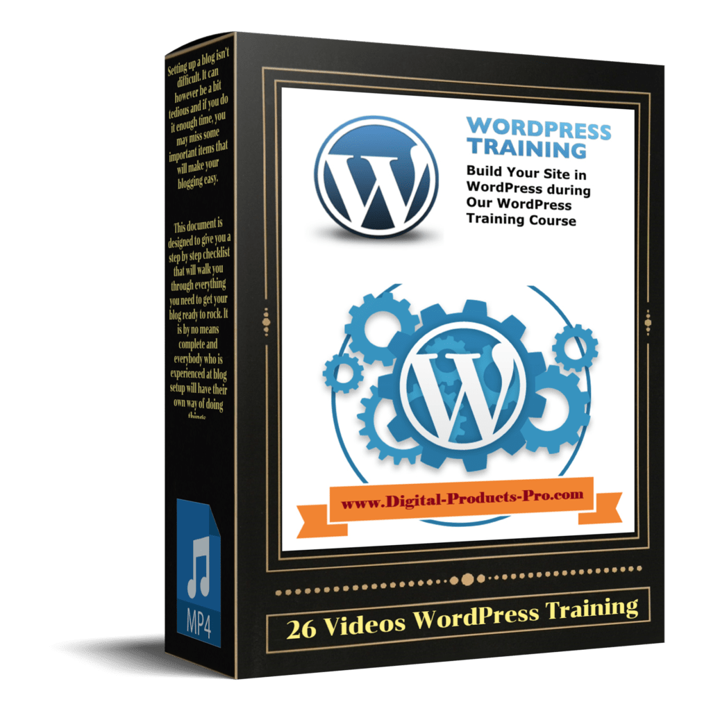 wordpress training download digital products