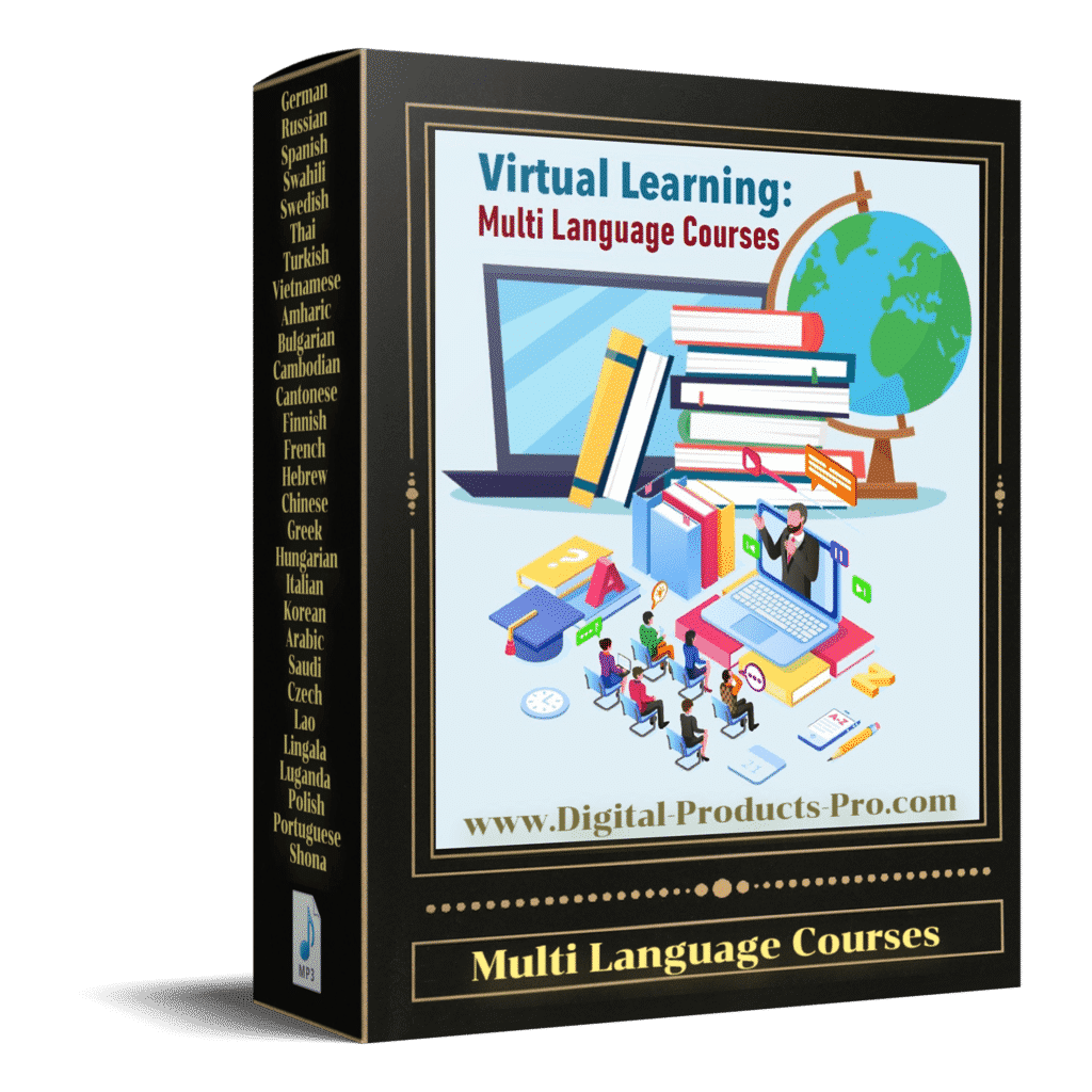 multi language course download digital products